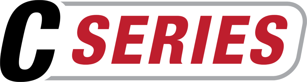 C Series Red Text Logo