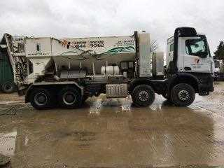 2014 Mercedes lorry with Cemen Tech 10MX-150 volumetric mixer