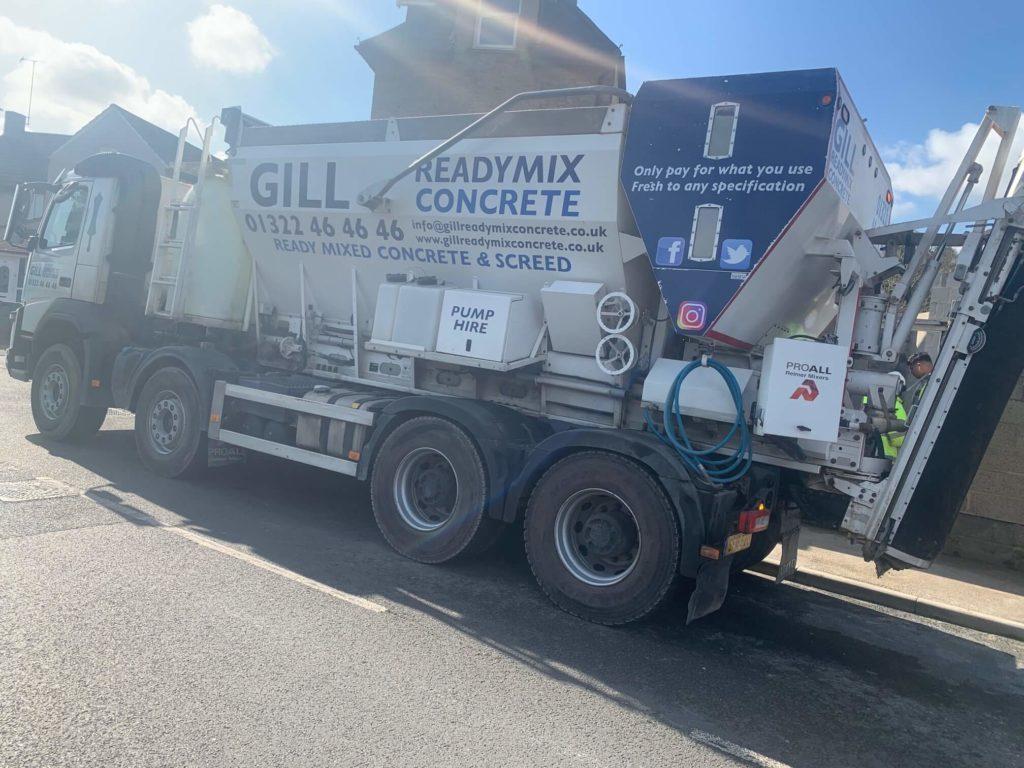 2018 Volvo lorry with Proall Reimer P95 volumetric mixer